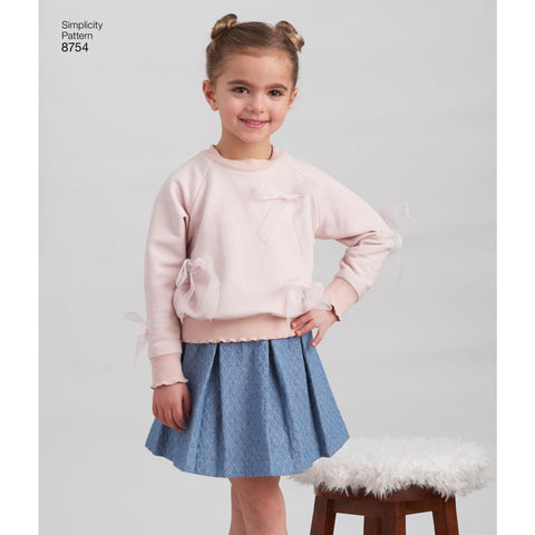 S8754 Child's Joggers, Skirt and Sweatshirts