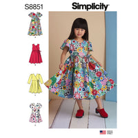 Simplicity Pattern 8851 Child's Dresses Sewing Pattern from Jaycotts Sewing Supplies