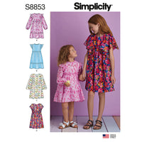 Simplicity Pattern 8853 Girls' Dress Pattern from Jaycotts Sewing Supplies