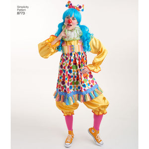 Simplicity Pattern 8773 traditional clown costume