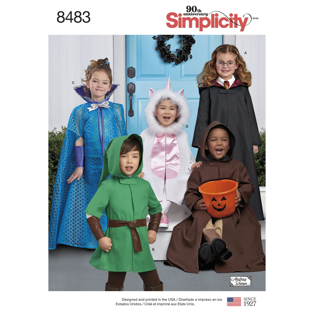 Simplicity Pattern 8483 childs cape costumes