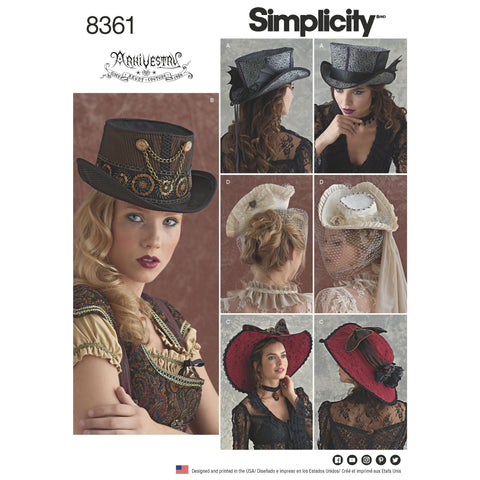 Simplicity Pattern 8361 -hats-in-three-sizes
