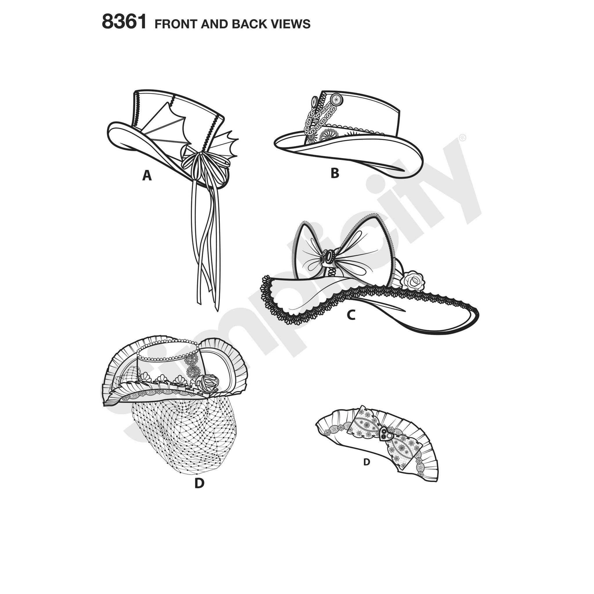 S8361 Hats in Three Sizes | by Arkivestry