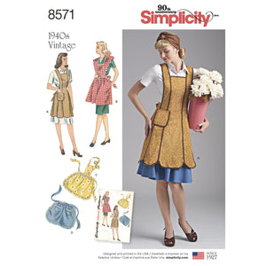 Simplicity Pattern 8571womens vintage aprons from Jaycotts Sewing Supplies