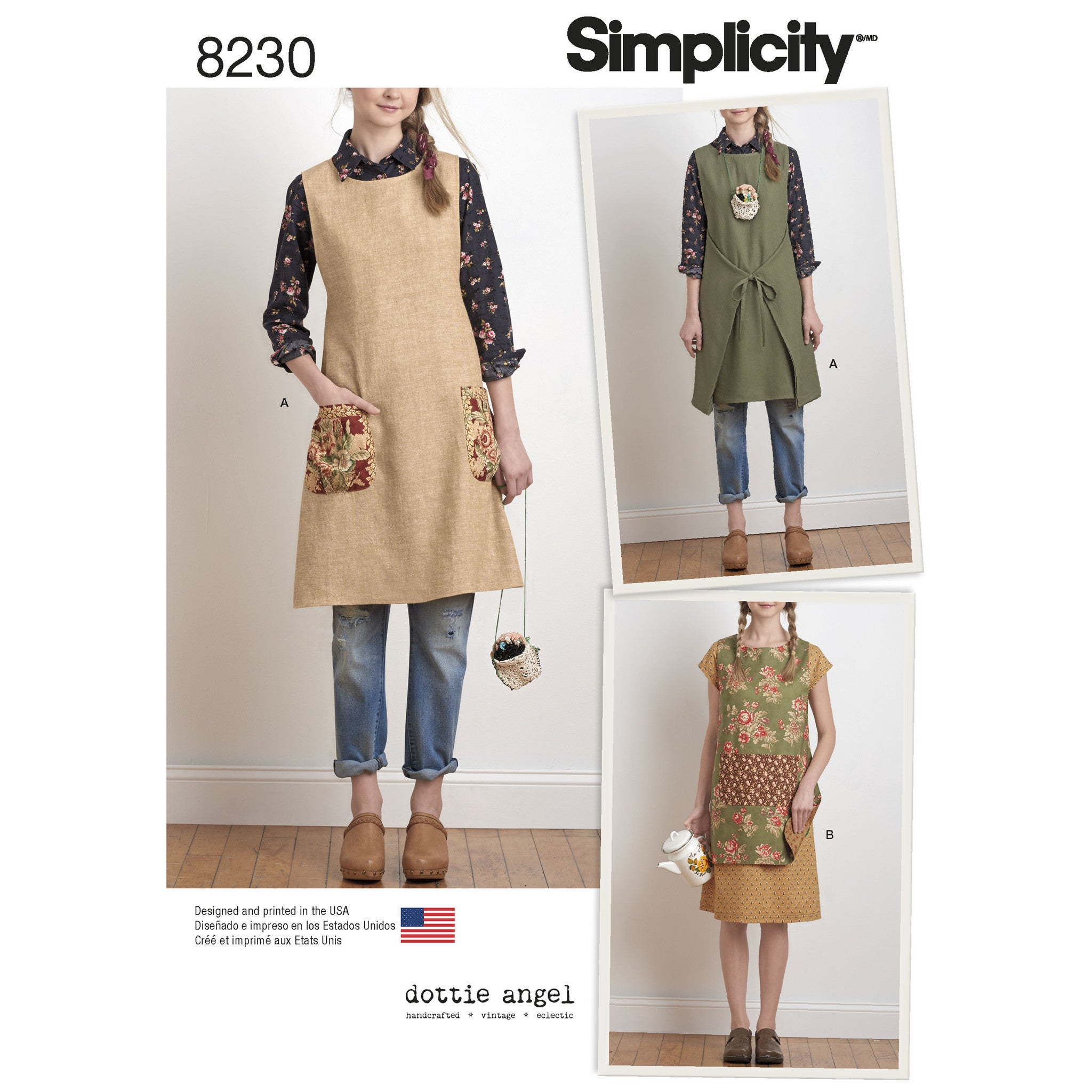 Simplicity S8230 Misses\' Dottie Angel Reversible Apron Dress and ...