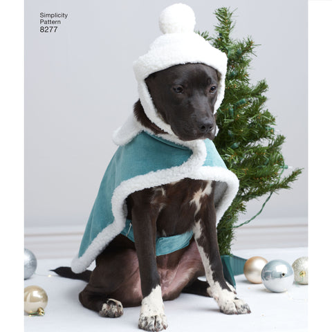 S8277 Fleece Dog Coats and Hats in Three Sizes
