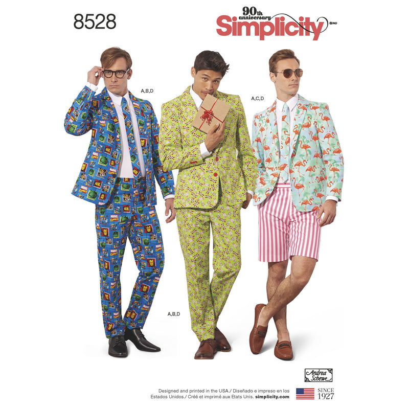 Simplicity Pattern 8528 mens costume suit