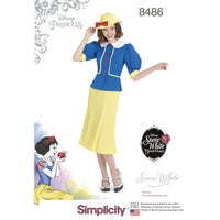 Simplicity Pattern 8486 1930s snow white dress and hat