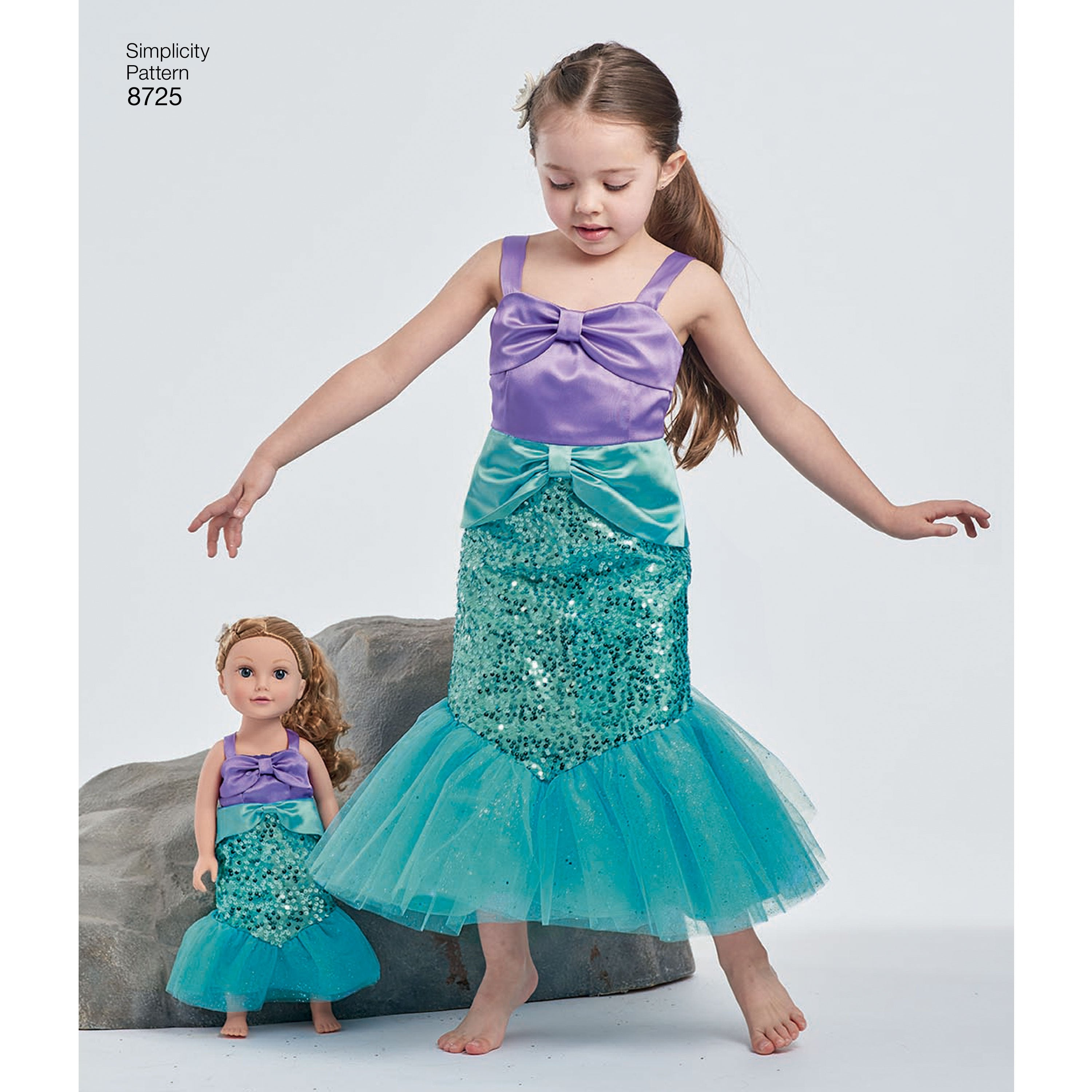 S8725 Girl's and Doll's Little Mermaid Costumes