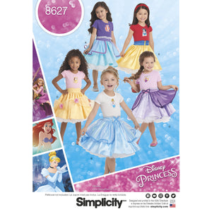 Simplicity Pattern 8627  Disney princess  skirts for children