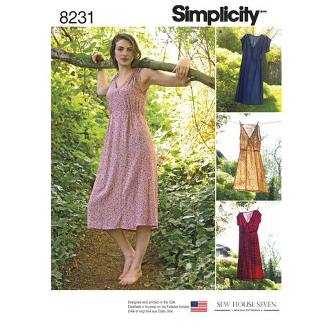 Simplicity S8231 Misses' Dress in Two Lengths