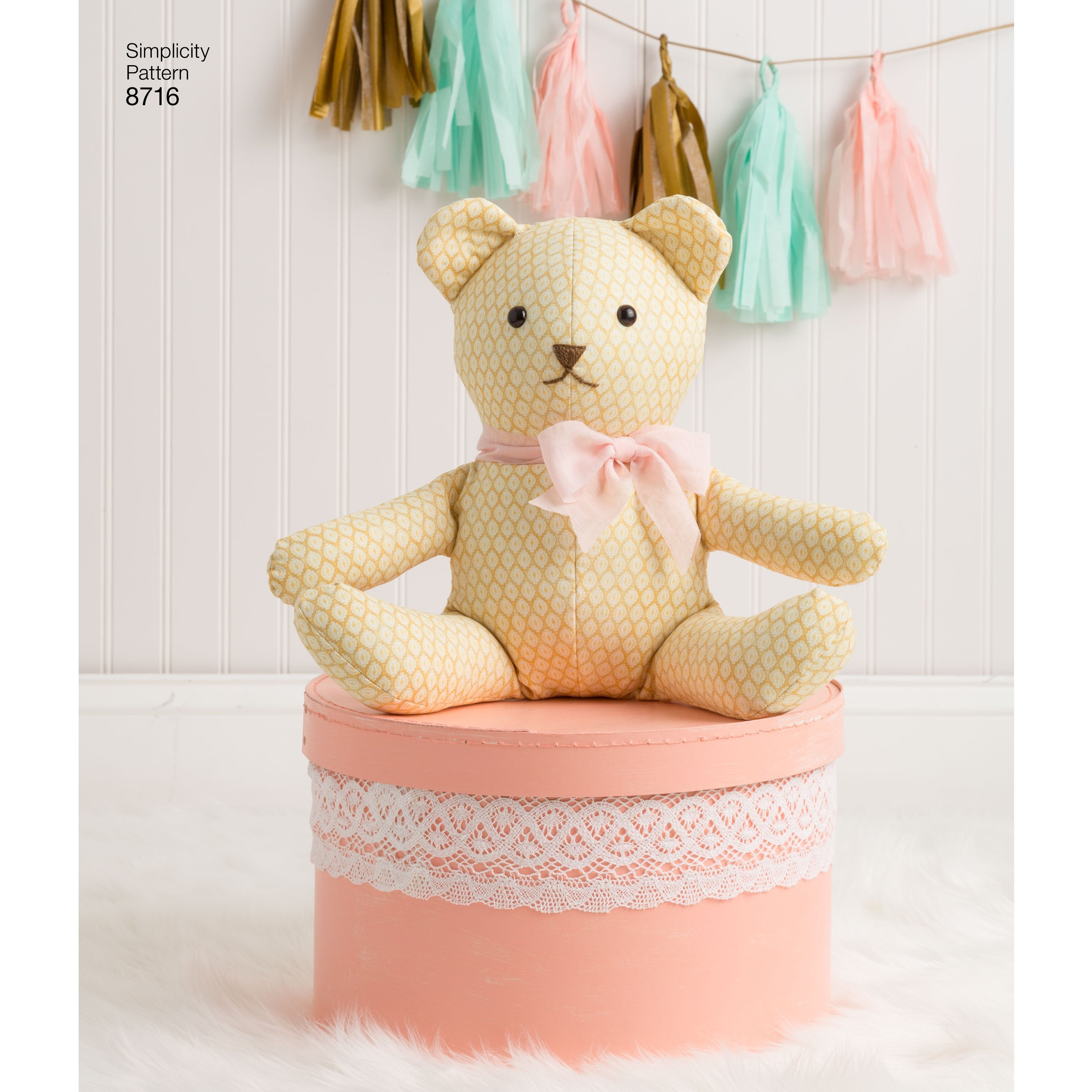 S8716 Stuffed Toy Animals sewing pattern