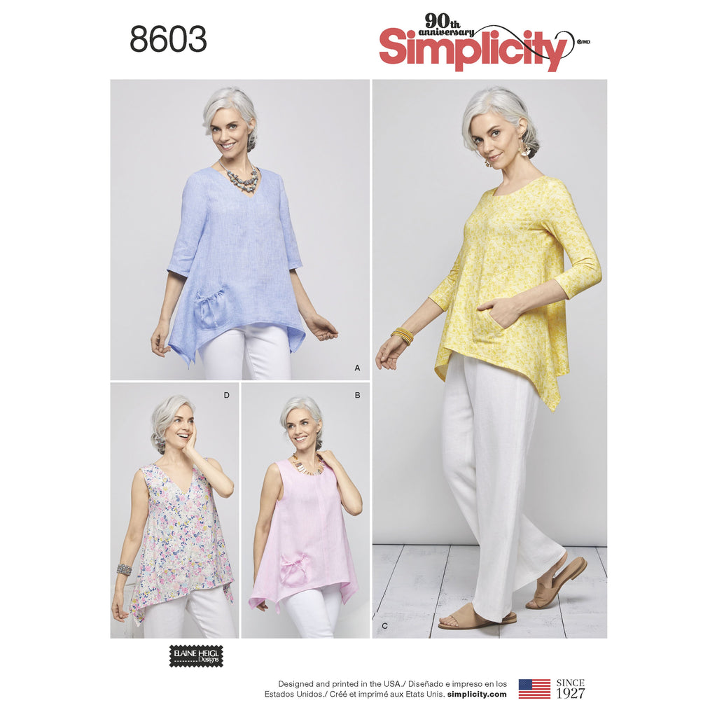Simplicity Pattern 8603 pullover tops