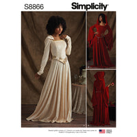 Simplicity Pattern 8866 misses / miss petite knit costumes