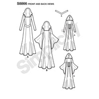 Simplicity Pattern 8866 misses / miss petite knit costumes from Jaycotts Sewing Supplies