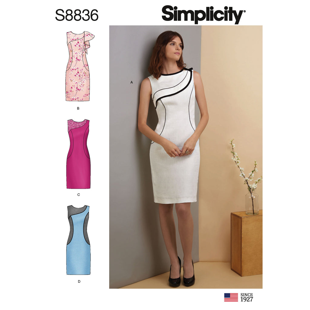 Simplicity Pattern 8836 misses miss petite dress pattern from Jaycotts Sewing Supplies