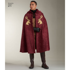 Simplicity Pattern 8771 Unisex Capes