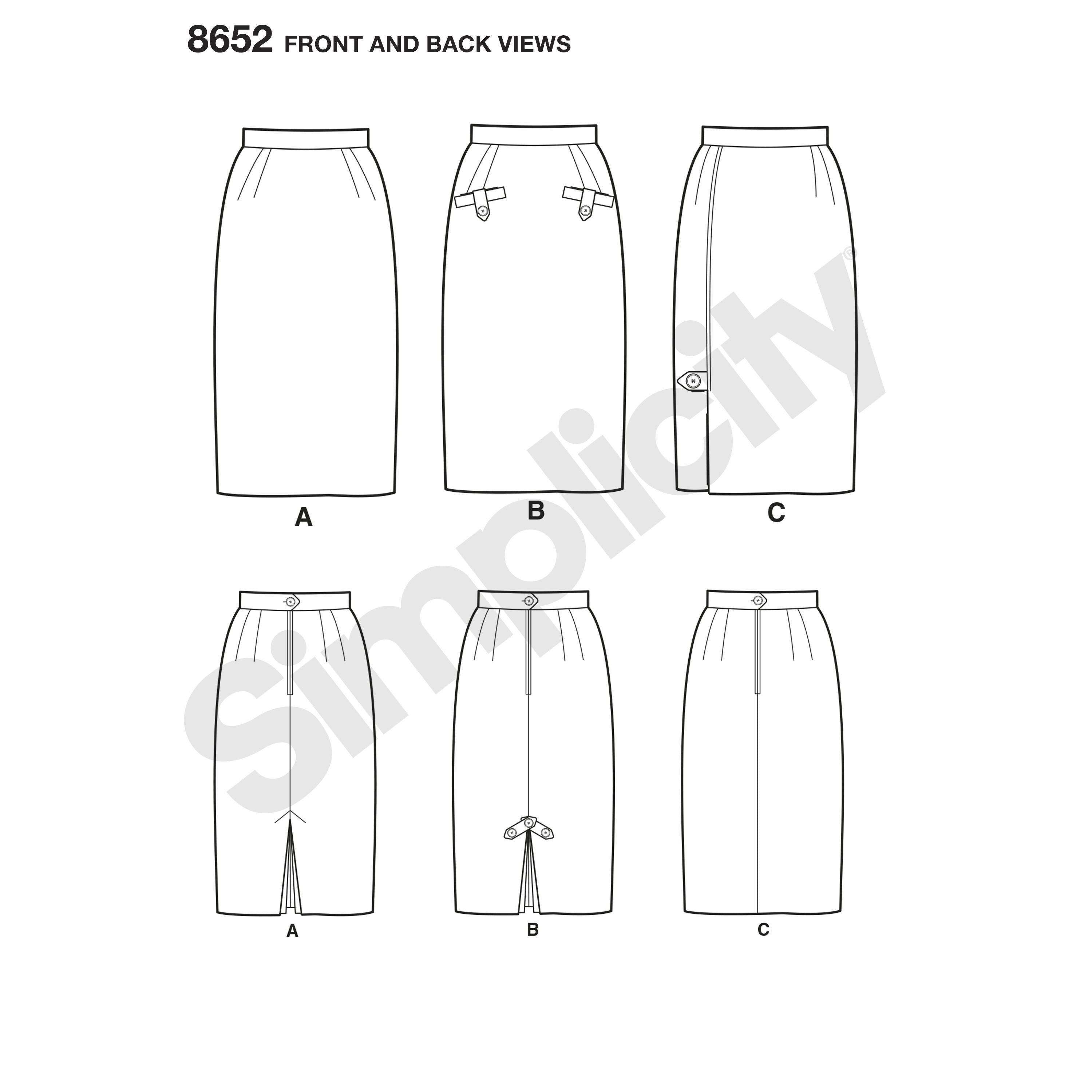S8652 Women's Skirts Pattern