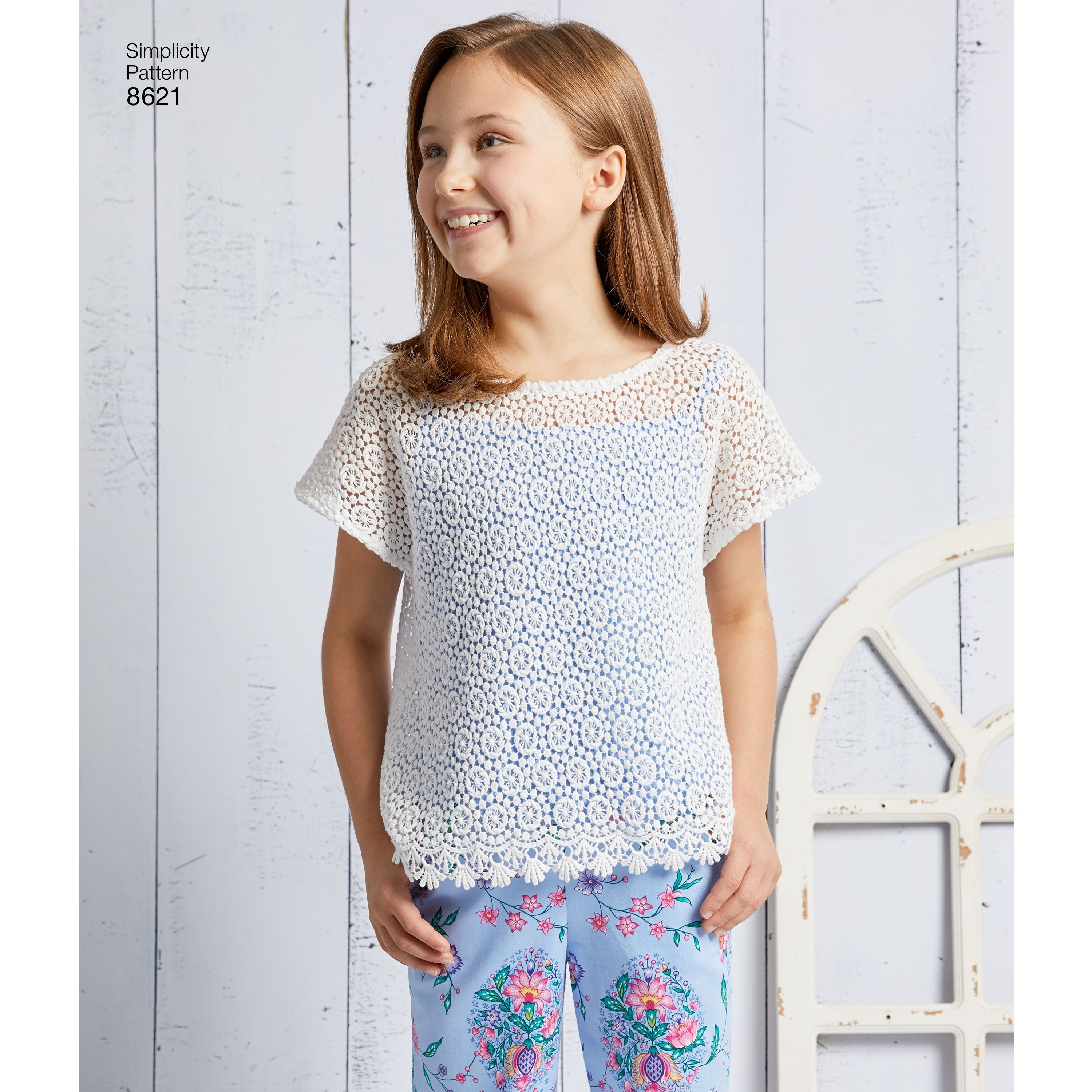 S8621 Girls' Dress, Top, Pants and Camisole
