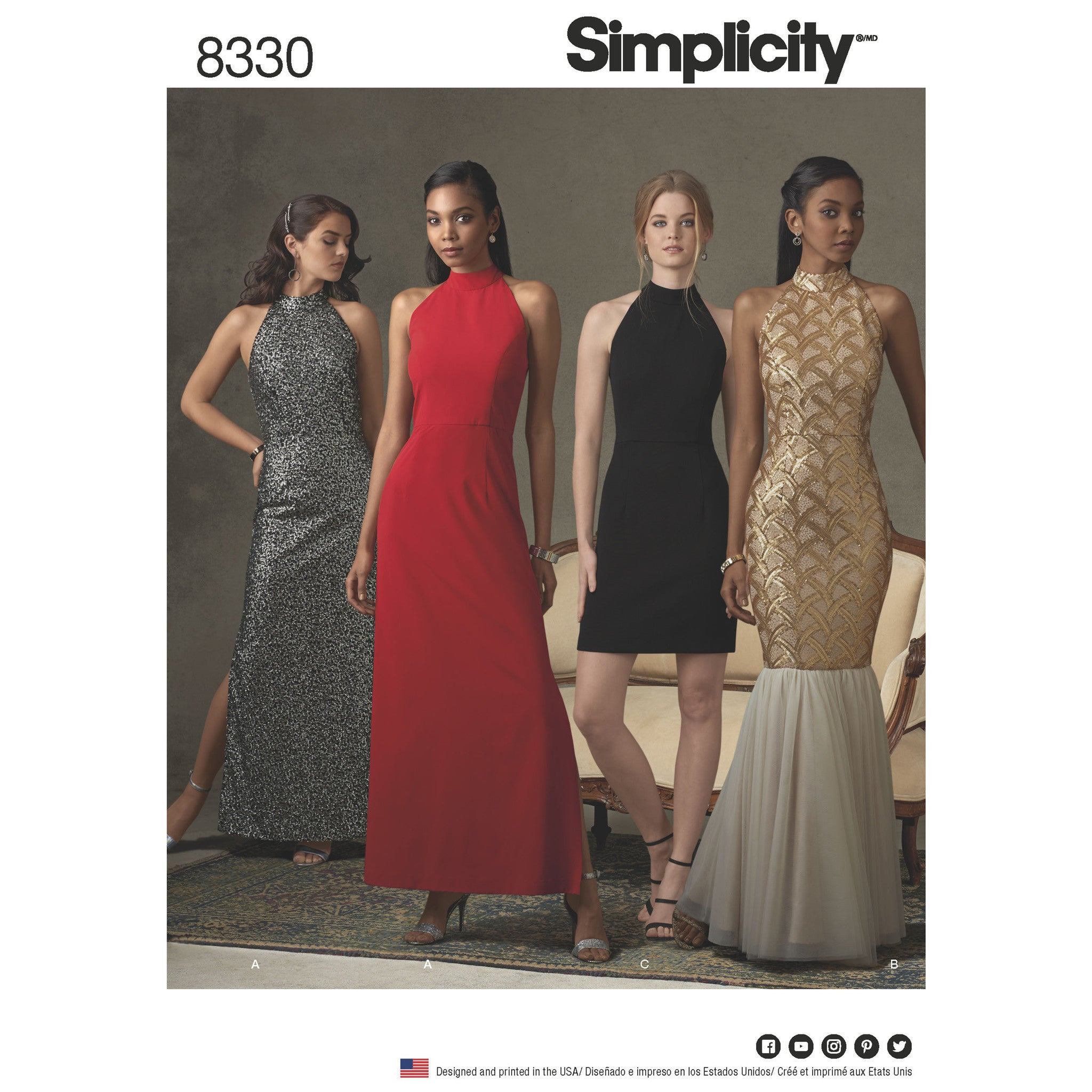 S8330 Misses Dress With Skirt And Back Variations Jaycotts Co Uk