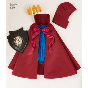 Simplicity Pattern 8729 Halloween Cape Costumes