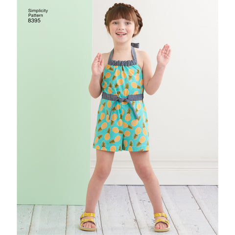 ages 3 to 6 girls romper sewing pattern