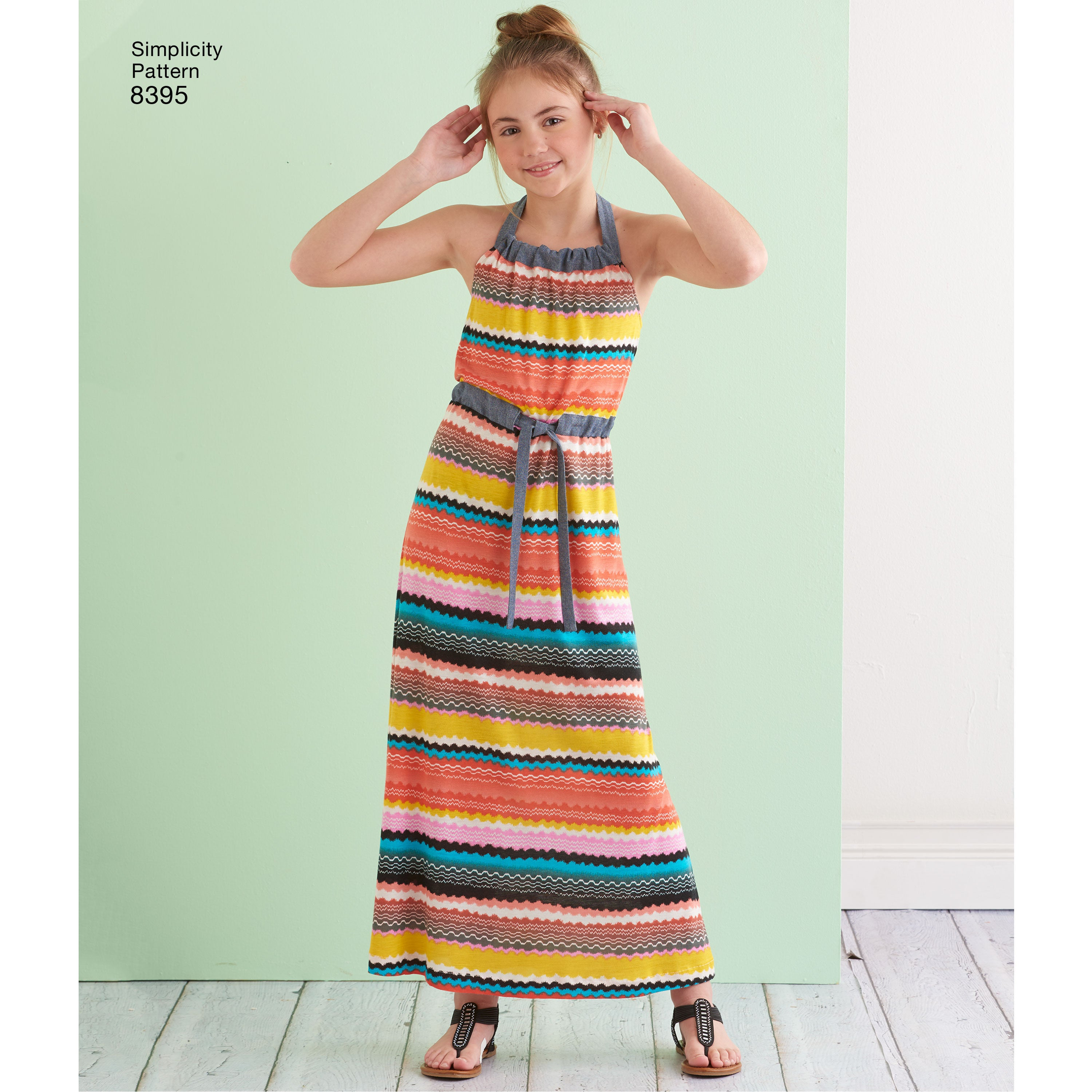 7 to 14 girls Halter Dress Pattern by Simplicity