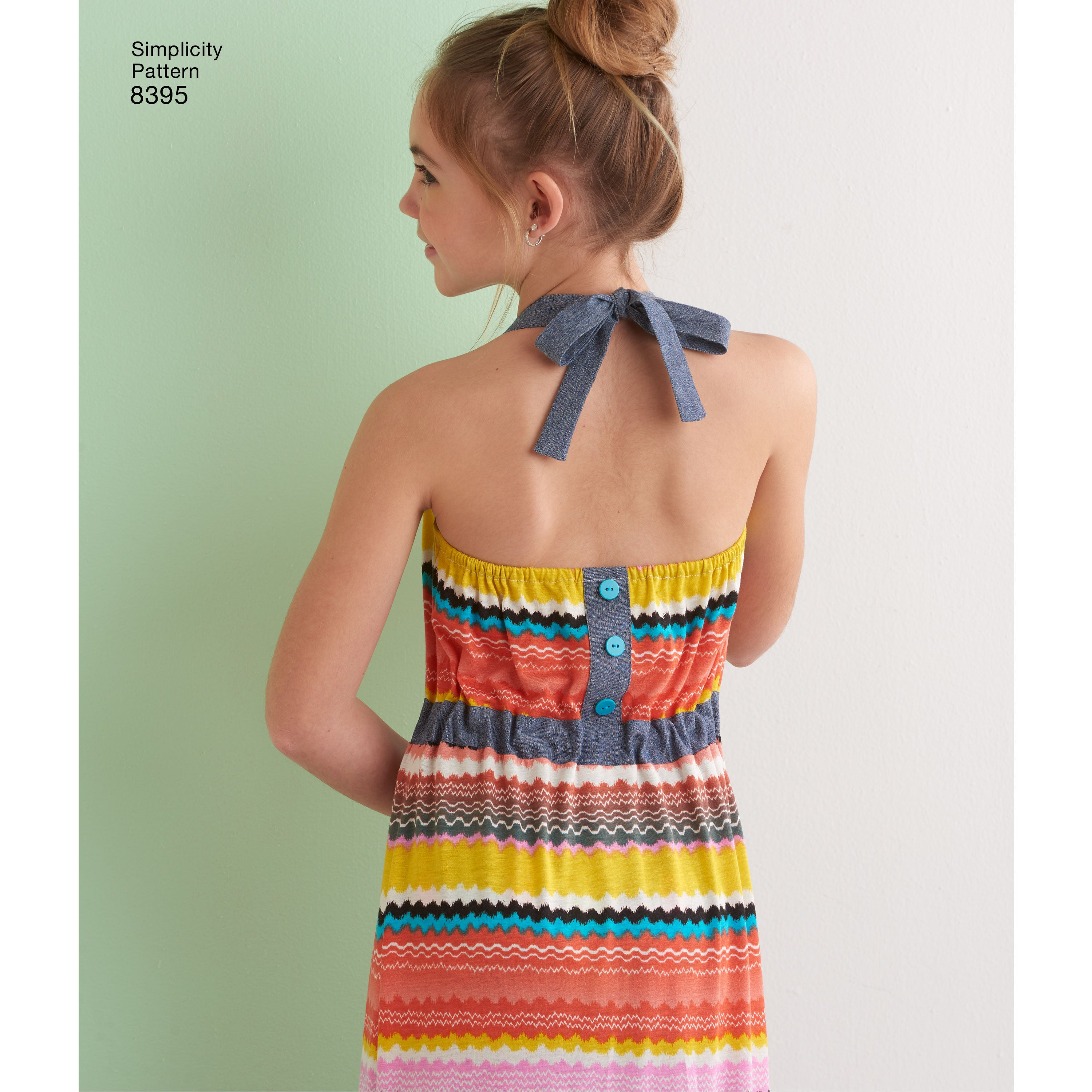 back detail girls halter dress from Simplicity pattern 8395