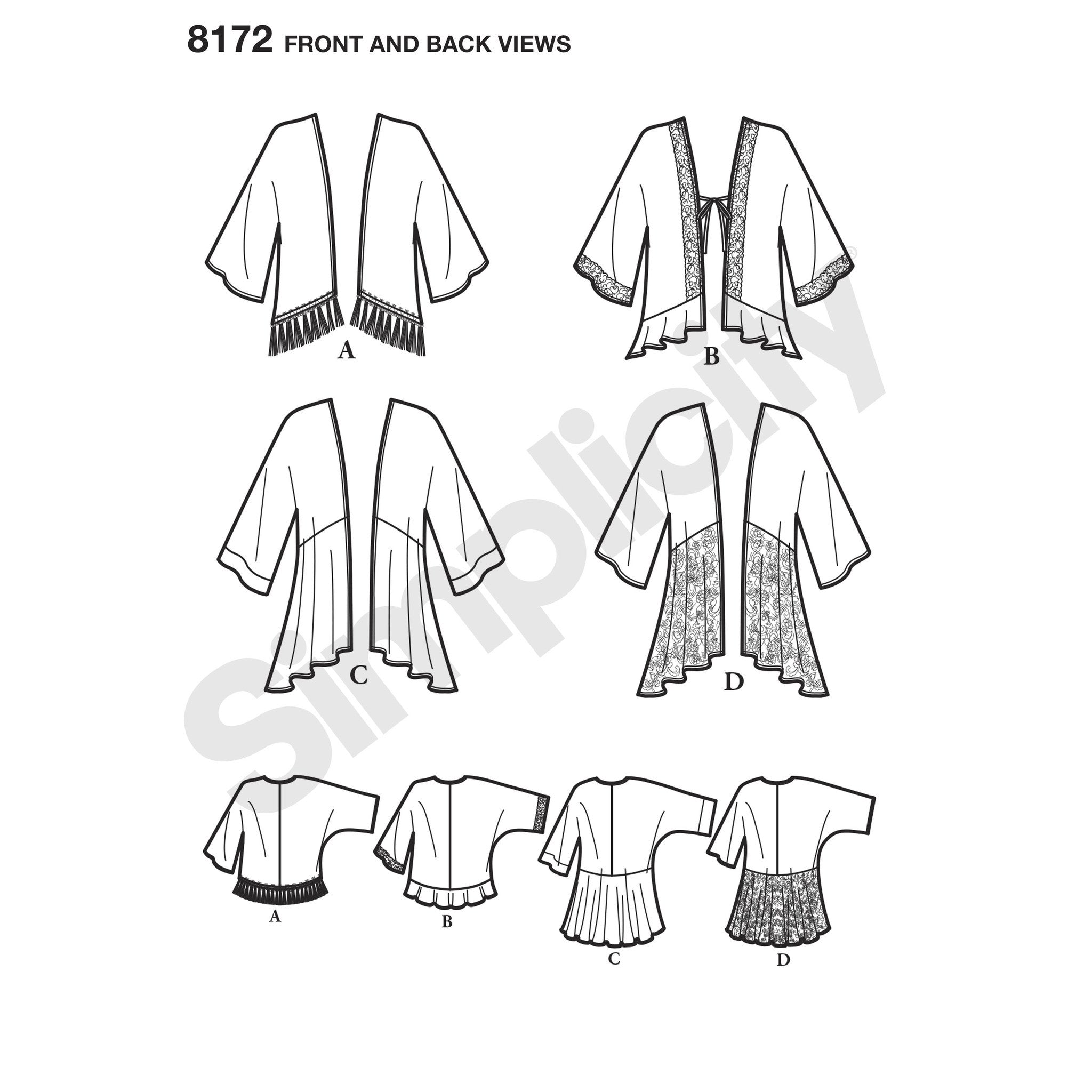 Simplicity Pattern 8172 Misses' knit cardigan and vest
