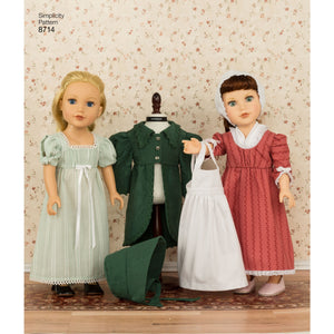 Simplicity Pattern 8714 doll clothes