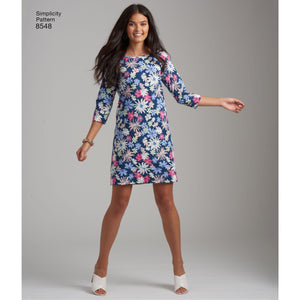 Simplicity Pattern 8548  Easy knit dress