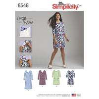 Sewing Pattern | Easy to sew Dress Simplicity 8548