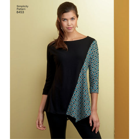 S8453 Womens Knit Tops Jaycotts Sewing Supplies