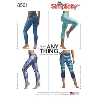 Simplicity Pattern 8561 sewing pattern womens leggings