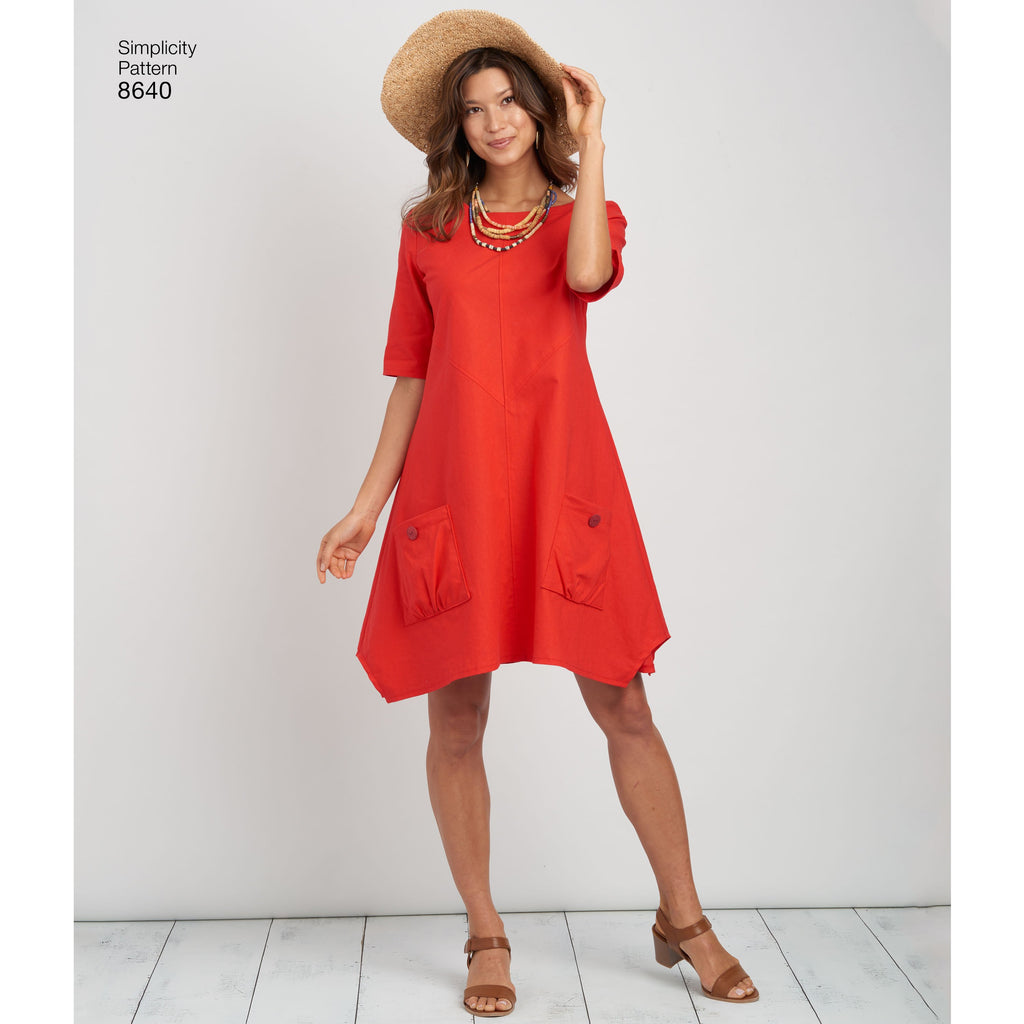 Simplicity Pattern 8640  loose fitting dress
