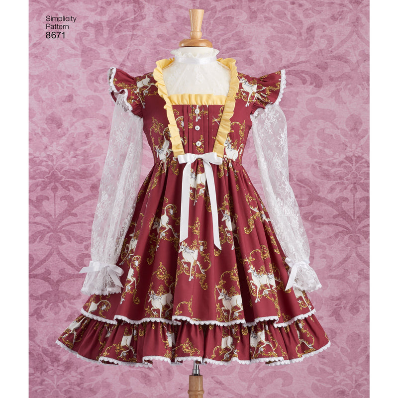 Simplicity Pattern 8671 Costume Sweet Lolita from Jaycotts Sewing Supplies