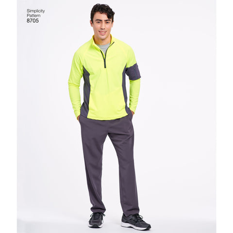 S8705 Men's Gymwear Pattern