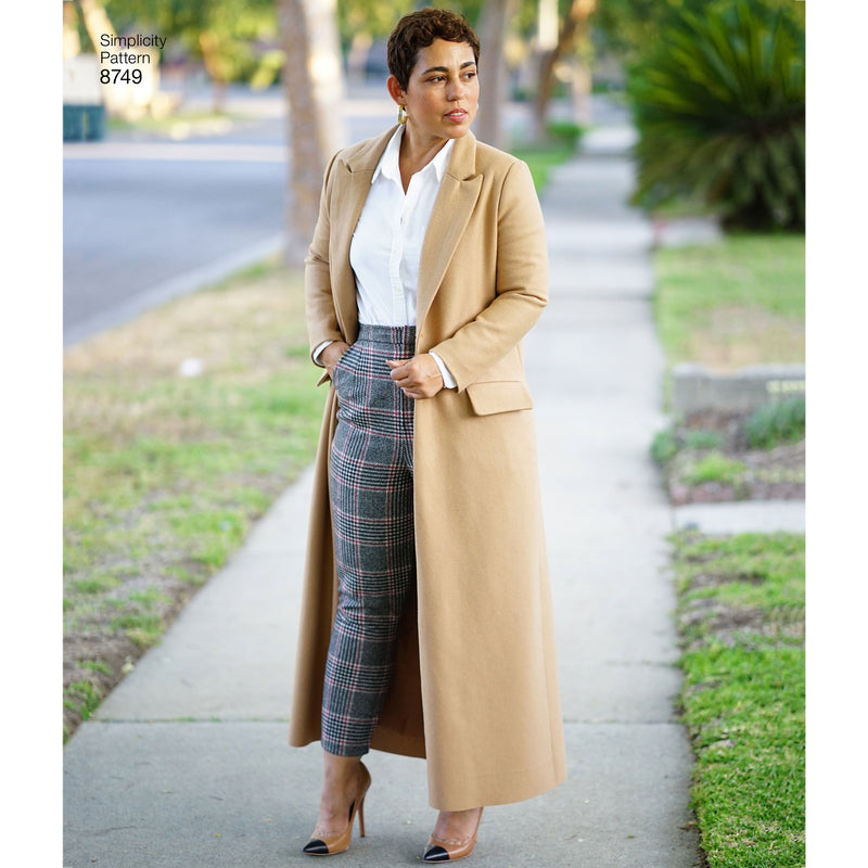Simplicity Pattern 8749 Mimi G Style wool coat from Jaycotts Sewing Supplies