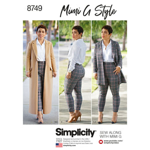 Simplicity Pattern 8749 Mimi G Style wool coat