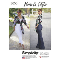 Simplicity Pattern 8655  high waisted pant