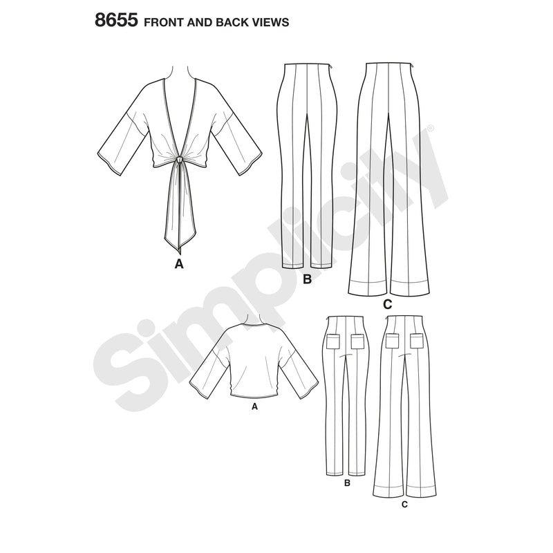 Simplicity Pattern 8655  high waisted pant from Jaycotts Sewing Supplies
