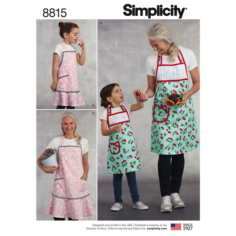 Simplicity Pattern 8815 Child's and Misses' Apron