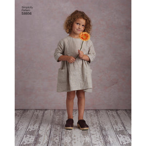 Simplicity Pattern 8856  Child's and Misses' Dress and Tunic from Jaycotts Sewing Supplies