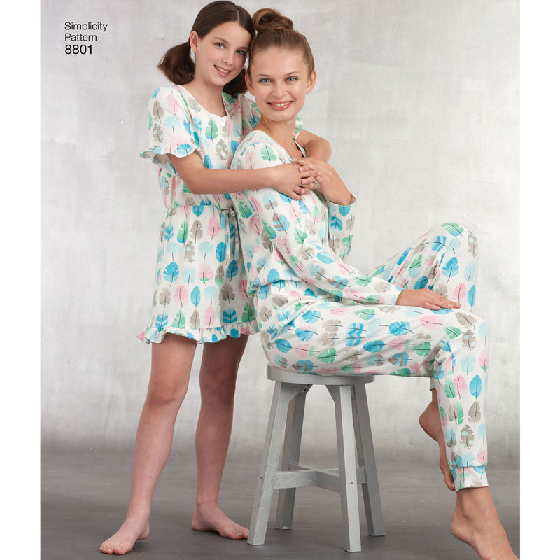 Simplicity Pattern 8801 girls and misses knit jumpsuit romper from Jaycotts Sewing Supplies