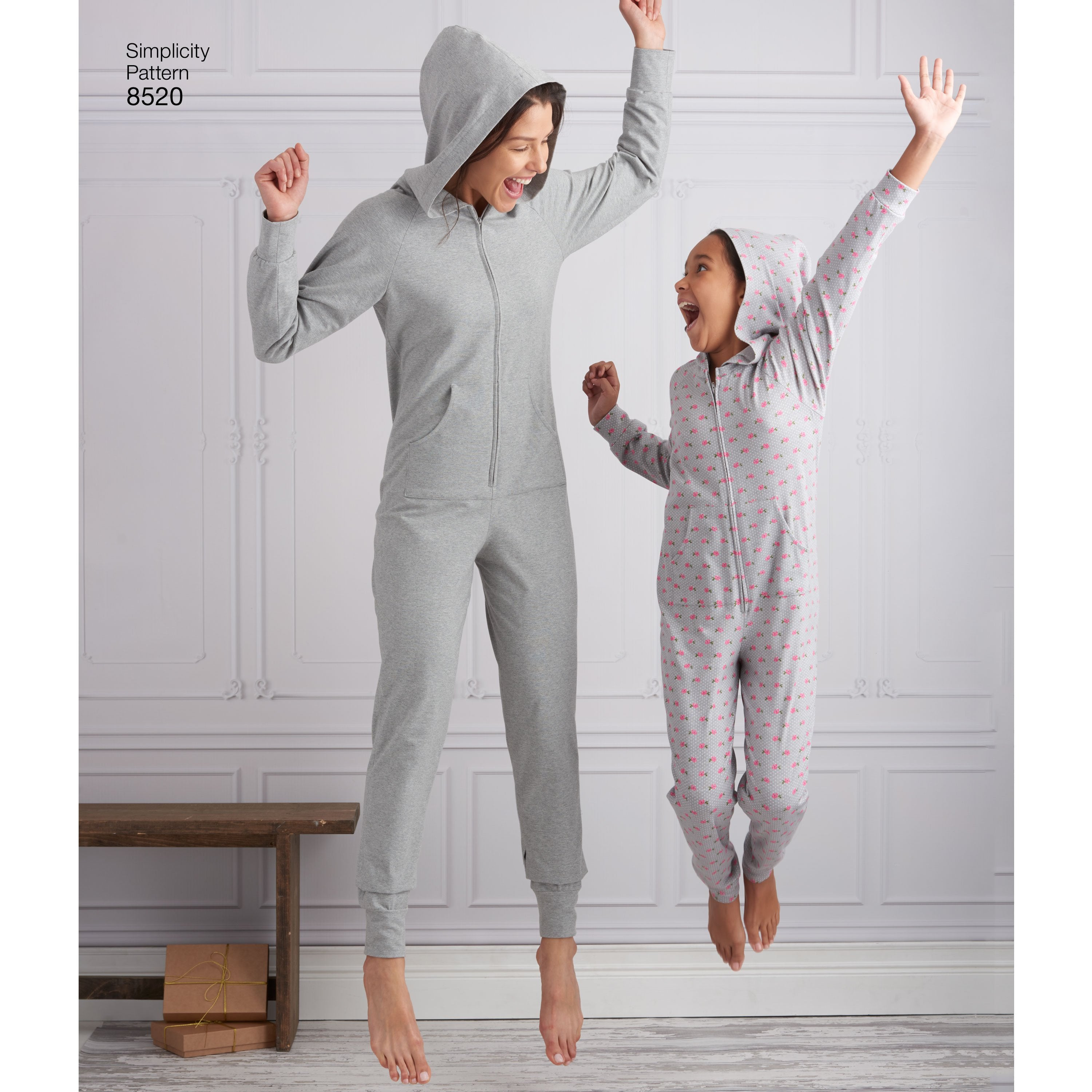 S8520 Giris\' and Misses\' Onesies Pattern — jaycotts.co.uk - Sewing ...