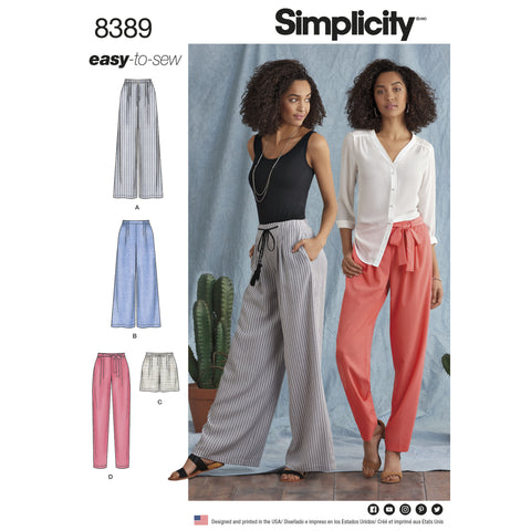 Comfortable and Easy to sew Women's Trousers Pattern
