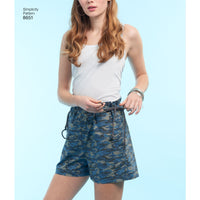 Simplicity Pattern 8651 Learn to sew shorts from Jaycotts Sewing Supplies