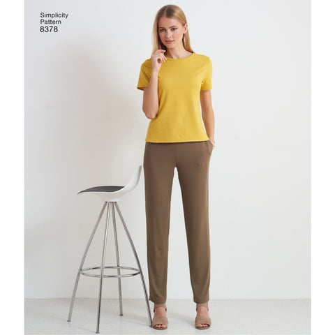 S8378 Women's Knit Pant plus Design Hacking