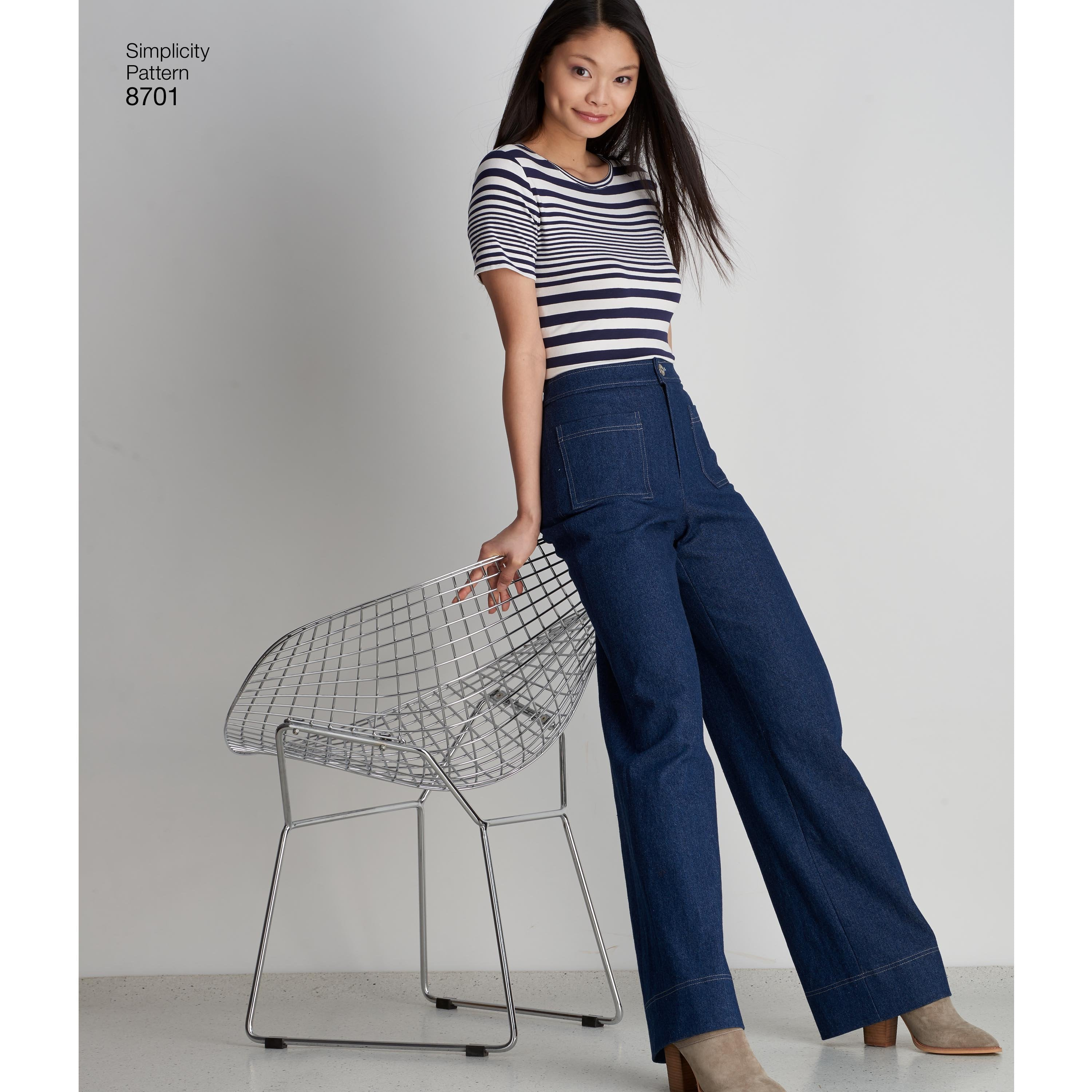 S8701 Women's Trousers with Design Hacking Options