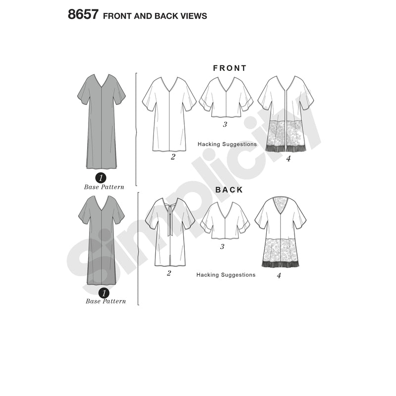 Simplicity Pattern 8657 caftan with options for design-hacking